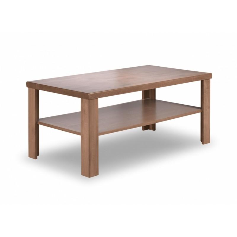 Konferenční sektorový stolek na míru s odkládací místem například na tv ovladače možné vyrobit ve tvaru čtverce