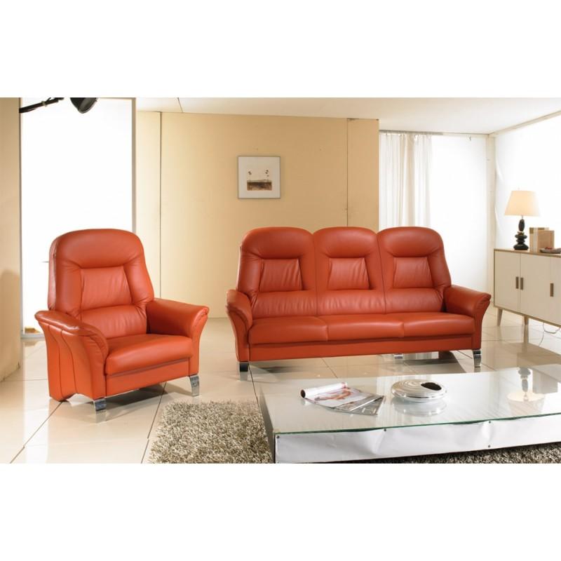 luxusní kožená sedačka na míru