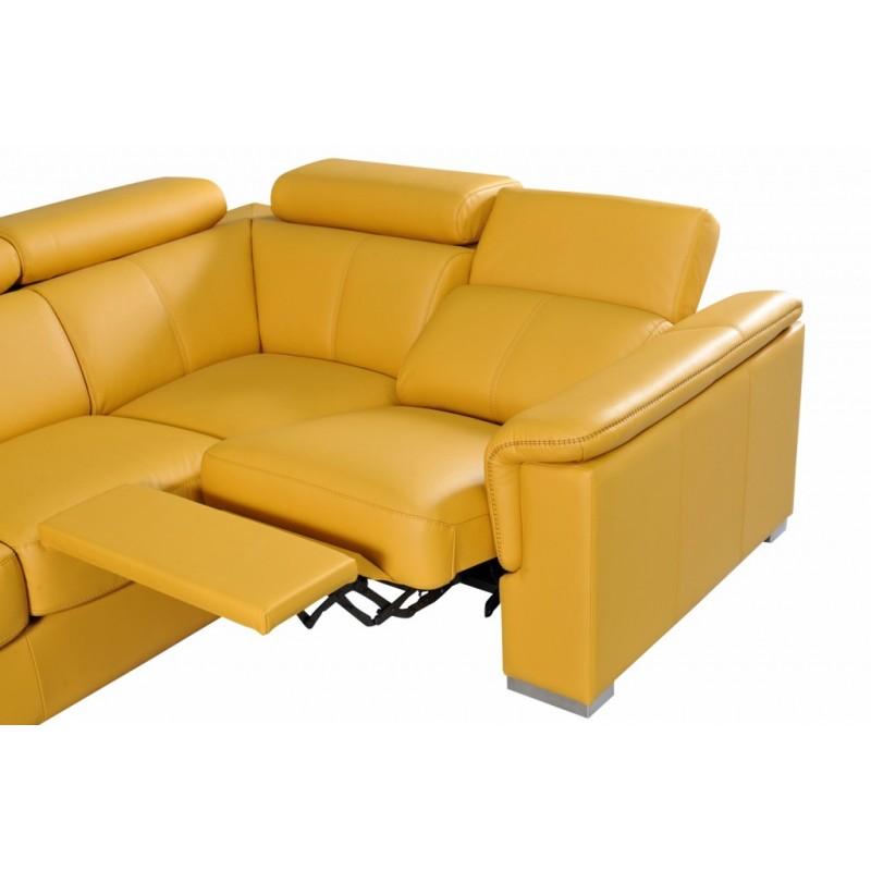 kožená polohovací sedací souprava
