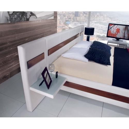 Luxusní postel Reno s dřevěným obložením