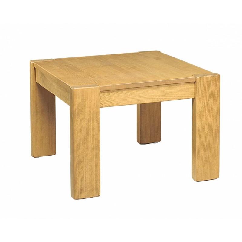 Konferenční stolek na míru YORK z pravého dřeva - čtverec