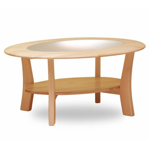 konferenční stolek Variant se sklem bukové dřevo