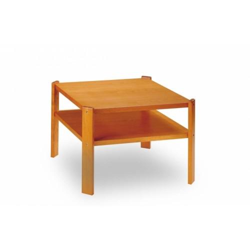 Konferenční stolek na míru Leda B čtvercového tvaru s odkládací deskou