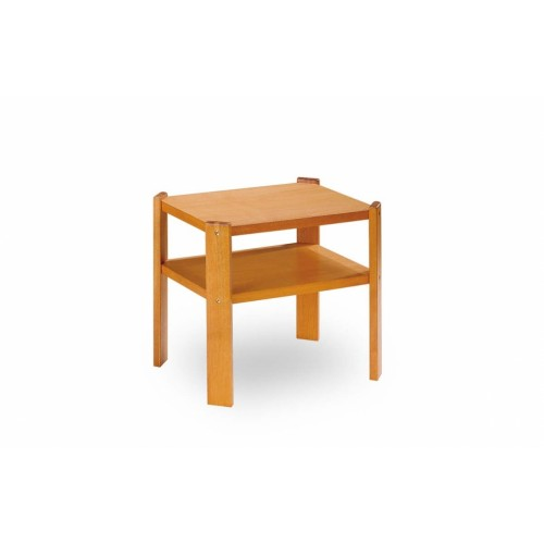 Konferenční stolek z pravého dřeva s odkládací deskou na časopisy