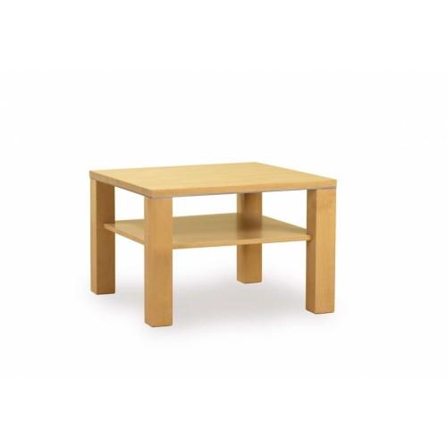 Čtvercový stolek s odkládací deskou ze dřeva