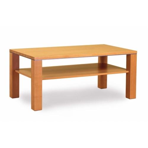 Obdélníkový konferenční stolek ze dřeva