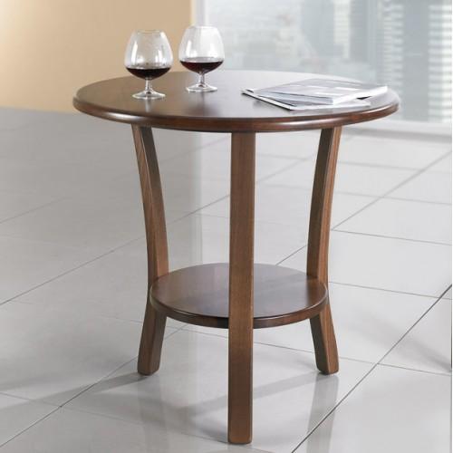 Kulatý dřevěný stylový stolek Sonet