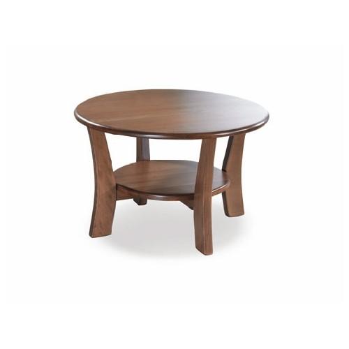 Kulatý stolek Duet ze dřeva