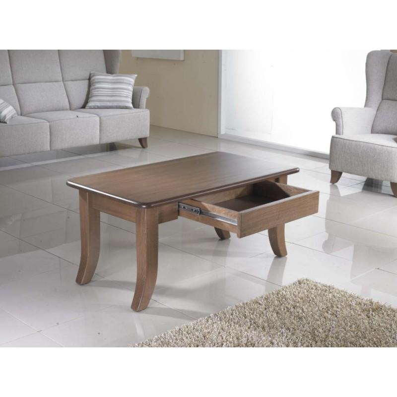 Dřevěný stůl Moris s úložným prostorem