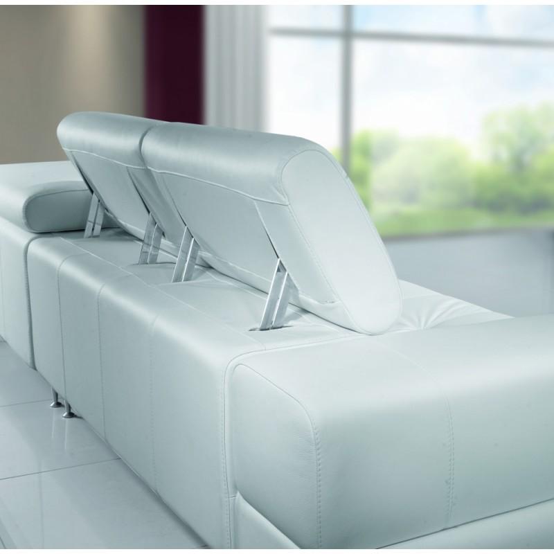 Polohovací podhlavníky kožené sedačky Aspen