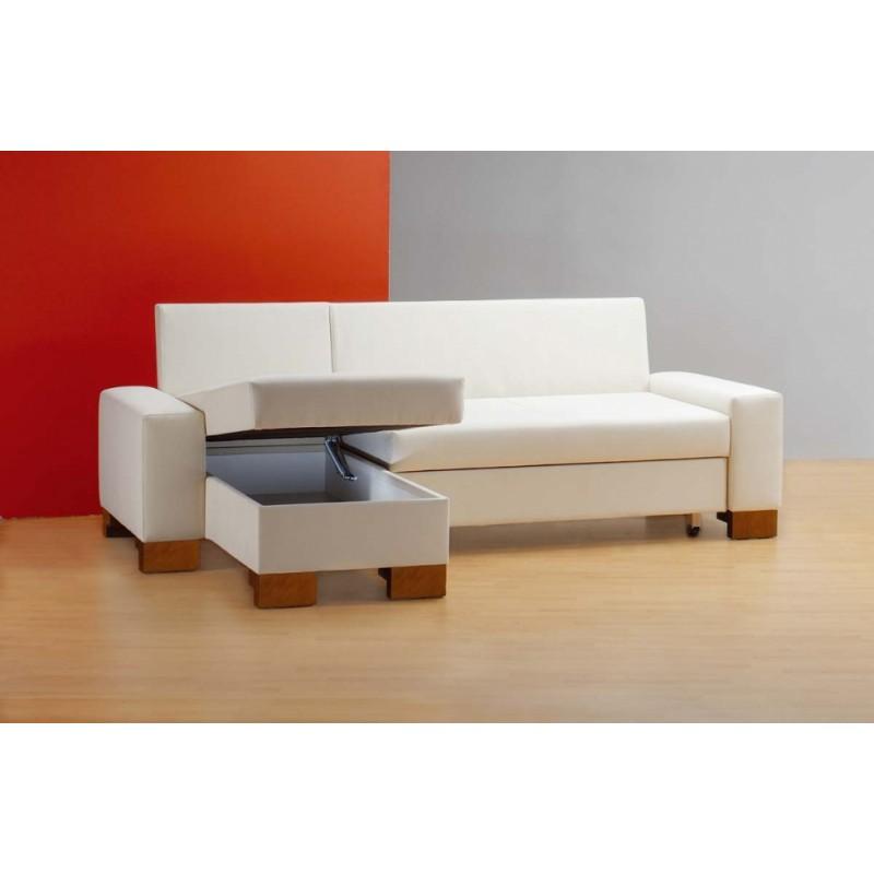 Rohová sedačka na míru Donna s úložným prostorem v relaxačním modulu