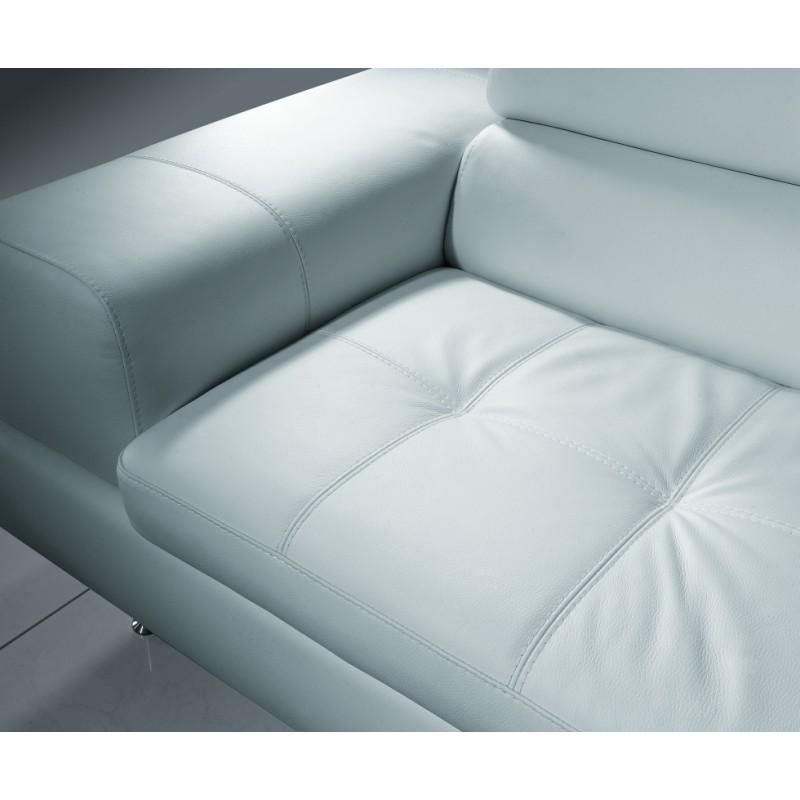 Detail sedací části kožené sedačky Aspen velmi kvalitní prošití sedáků