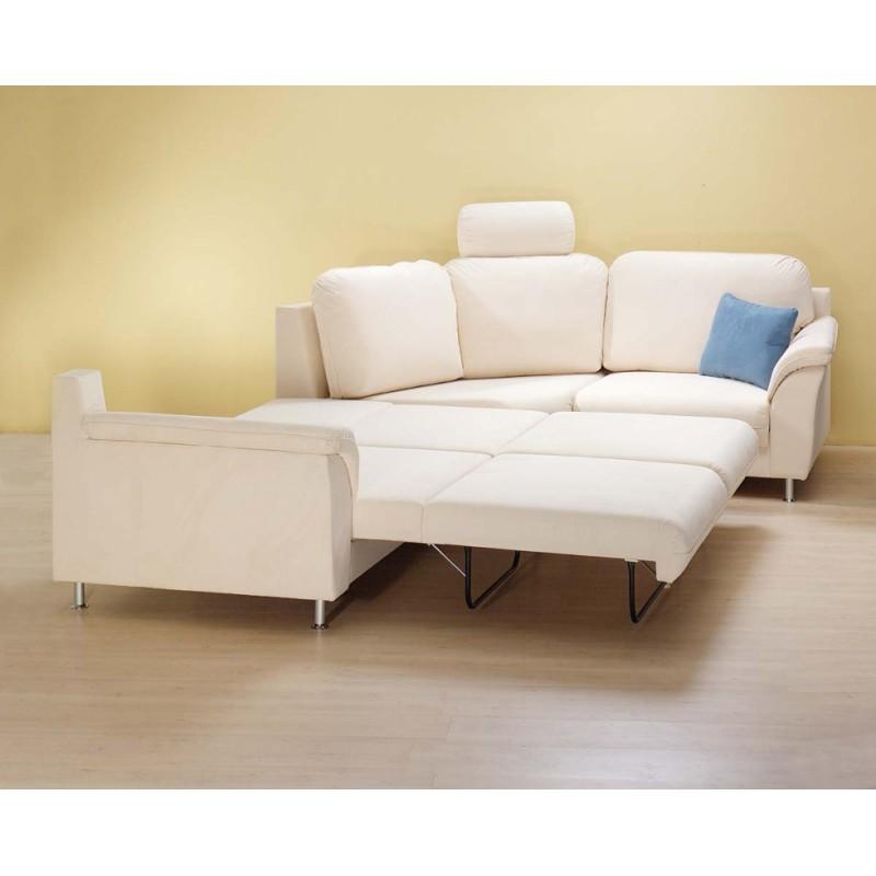 rohová sedací souprava Variant s možností čalounění do pravé kůže a doplněna rozkládáním na každodenní spaní