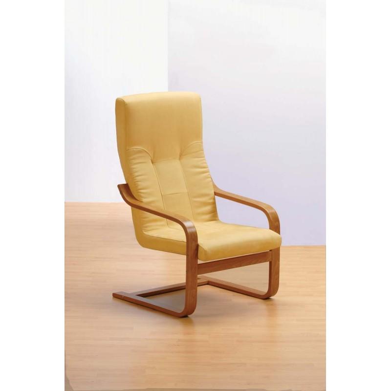 Křeslo s možností pohupování u kožené sedačky Bols