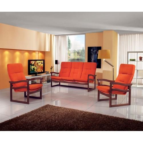 Užijte si pohodu s jednoduše elegantní koženou sedací soupravou Toscano