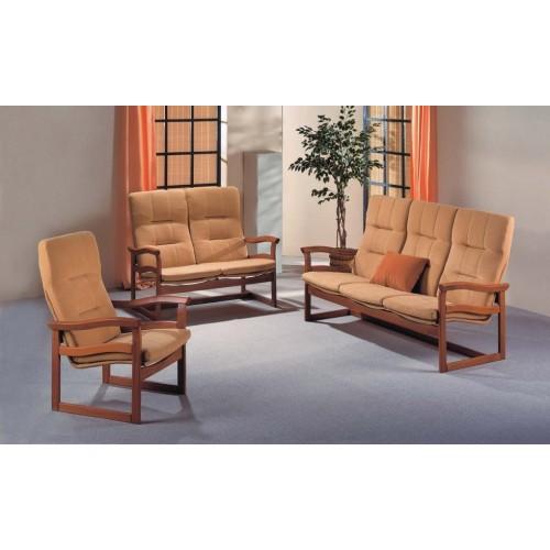 Dřevěná lehká sedačka Toscano možné očalounění na zakázku v sestavě trojsed, dvoused a křeslo