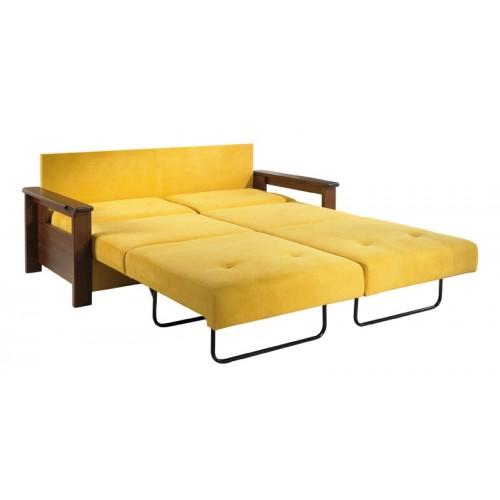 Rozložená sedačka Otava na míru s perfektním ocelovým rozkladem na jednotlivá lůžka