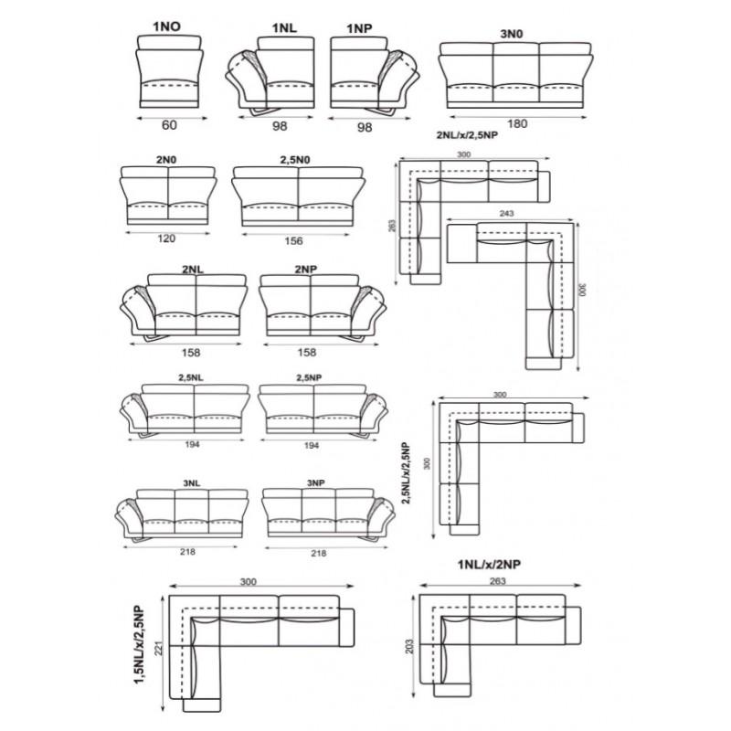 designová sedací souprava