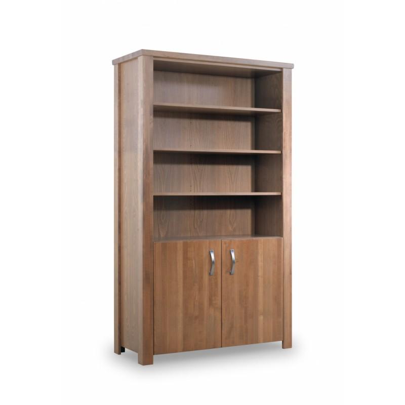 Masivní moderní knihovna na míru z bukové dřeva E1